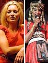 La modelo Kate Moss y la estrella del 'rap' M.I.A., cautivadas por el diseño