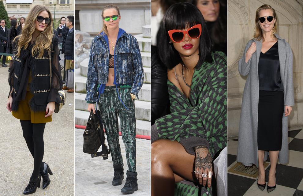 Jessica Alba, Olivia Palermo, Rihanna... la otra pasarela de tendencias en París
