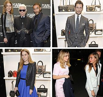Suki Waterhouse, Cara Delevingne, la princesa Beatriz, David Gandy… Todos con Karl Lagerfeld en su conquista londinense