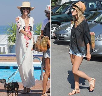 Eugenia Silva y Amaia Salamanca, dos amigas muy estilosas en Marbella