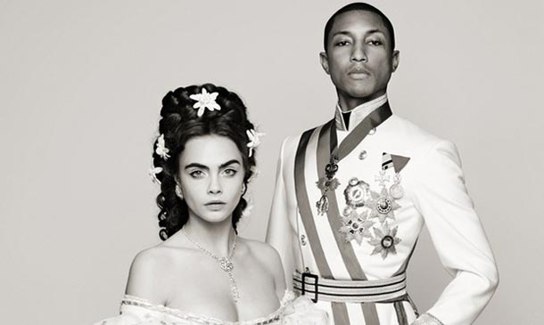 Cara Delevingne y Pharrell Williams, los 'emperadores' de Chanel