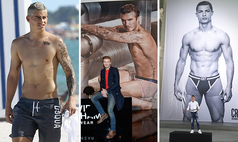 El futbolista James Rodríguez, como Ronaldo o Beckham: del terreno de juego a modelo de ropa interior