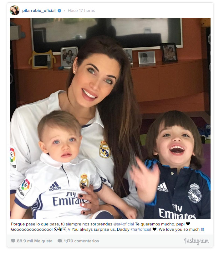 Los hijos de Sergio Ramos y Pilar Rubio, los más jóvenes (y fieles ...