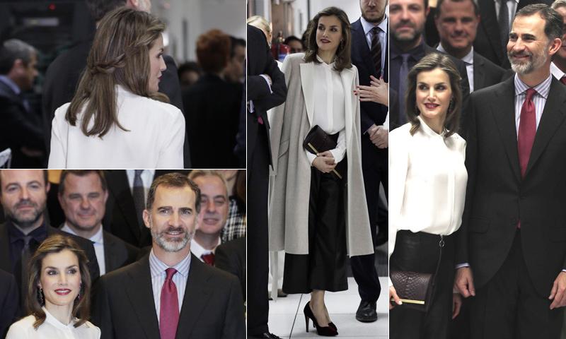 La Reina 'amortiza' su guardarropa en el 40º aniversario del Grupo Zeta