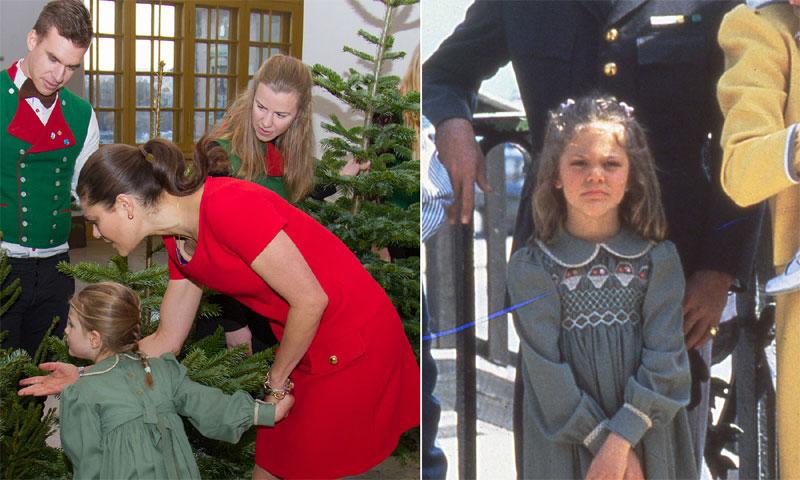 Estelle de Suecia 'desempolva' el vestido más navideño de su madre