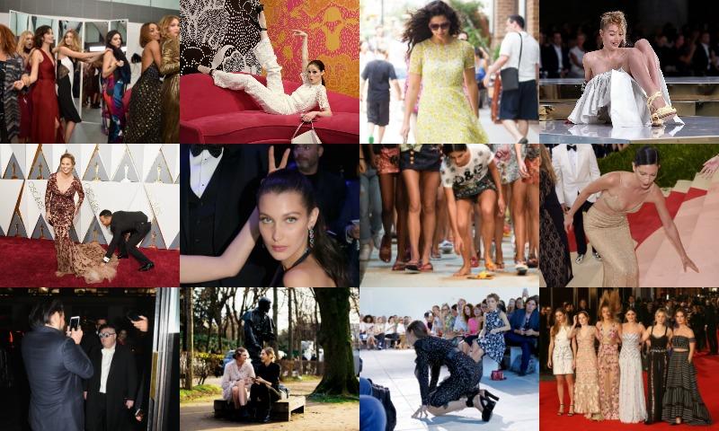 Caídas, miradas indiscretas, invitados inesperados que se 'cuelan' en las sesiones de fotos... Recordamos los momentos 'fashion' más divertidos de 2016