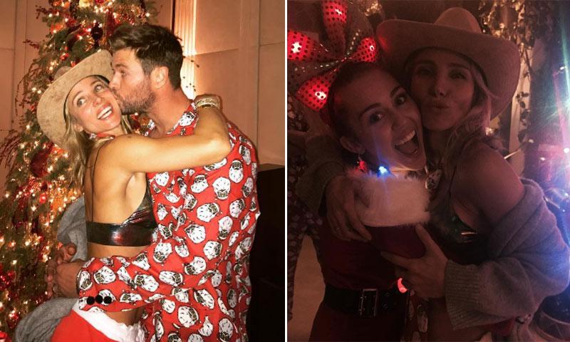 Abrazos, disfraces y mucha complicidad... ¡los Hemsworth-Pataky sí que saben divertirse en las fiestas!