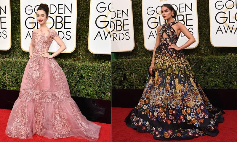 Despliegue de 'glamour' en la alfombra roja de los Globo de Oro