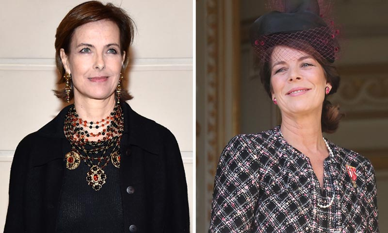 Carole Bouquet y Carolina de Mónaco estrechan lazos: dos 'Reinas de la moda', 'cara a cara'