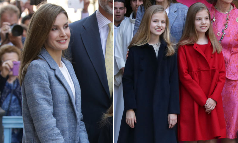 Los 'looks' de la reina Letizia, la princesa Leonor y la infanta Sofía, al detalle