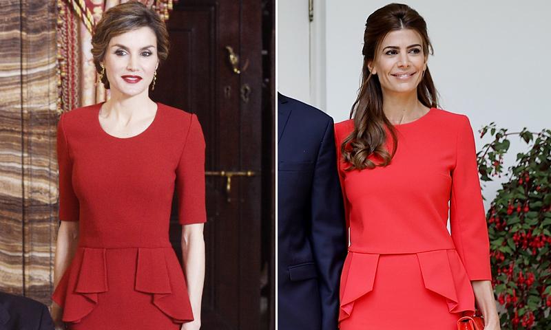 Летиция и королева Юлиана Авада, как то же самое платье?