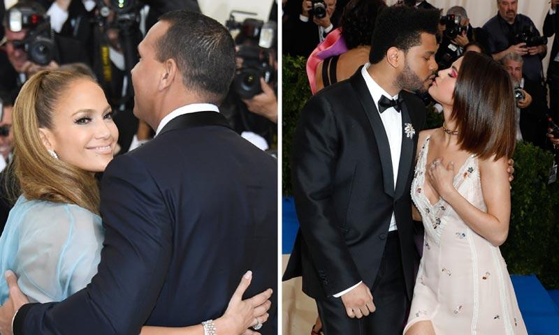 Selena Gomez y The Weeknd, Jennifer Lopez y Alex Rodriguez... A la Gala MET, mejor en pareja