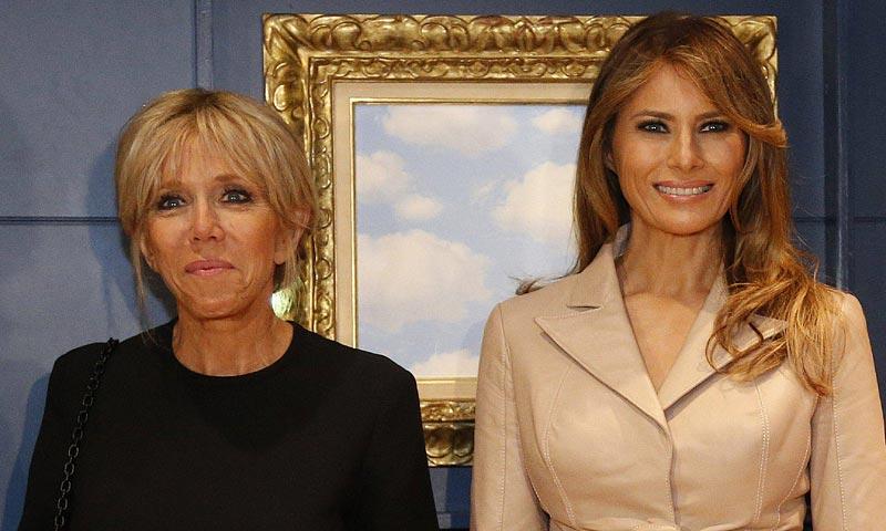 El segundo 'look' de Brigitte Macron, toda una revelación ante Melania Trump