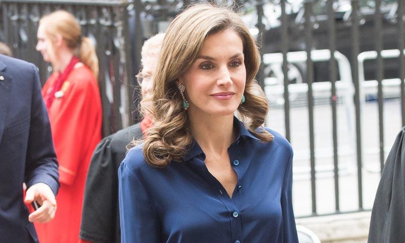 Doña Letizia repite uno de sus 'looks' más icónicos en Londres