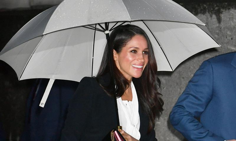 Meghan Markle y su curiosa coincidencia de estilo con la Duquesa de Cambridge en la misma noche