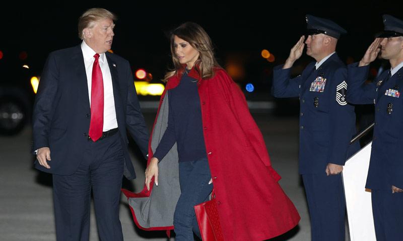 ¿Melania y el look de la reconciliación con Donald Trump?