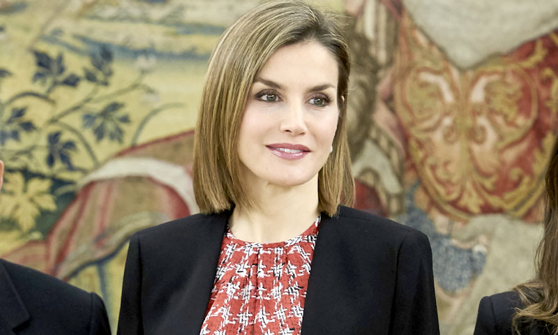 La reina Letizia también llevó el estampado de moda que sedujo a Diana de Gales