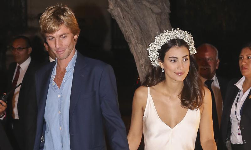 El curioso caso del 'slip dress', el segundo vestido de la boda de Alessandra de Osma