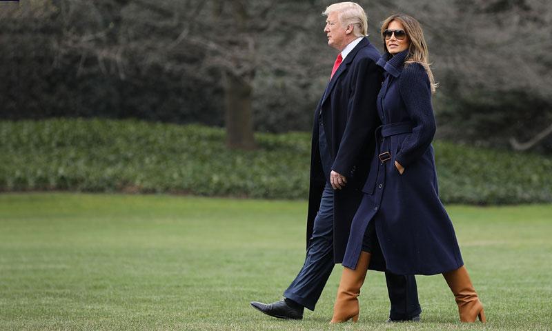 Melania Trump o cuando llevar tacones juega en contra de la primera dama