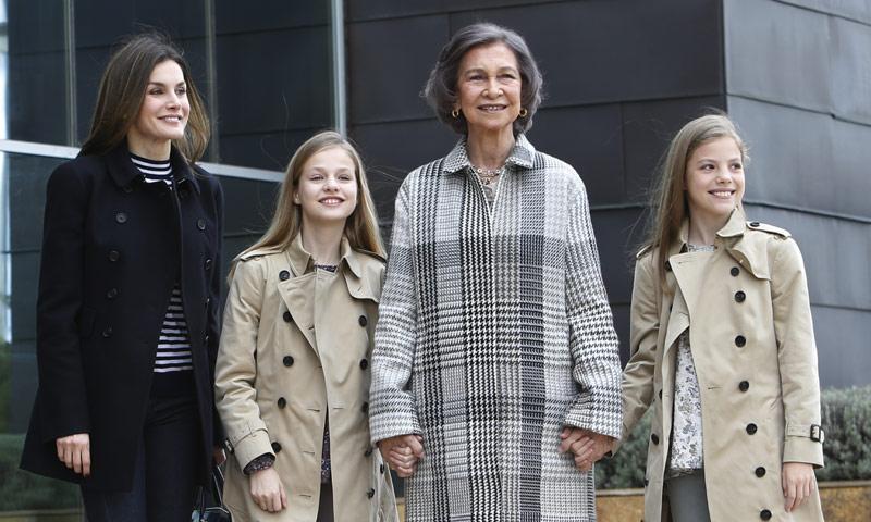 Doña Letizia, Sofía, Leonor y la prenda del reencuentro más esperado