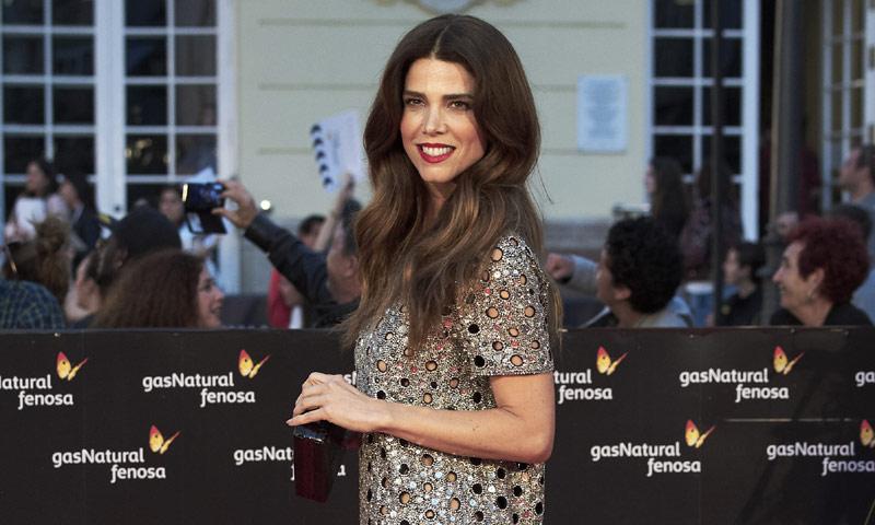 Juana Acosta elige para el Festival de Málaga un look premamá de Chiara Ferragni