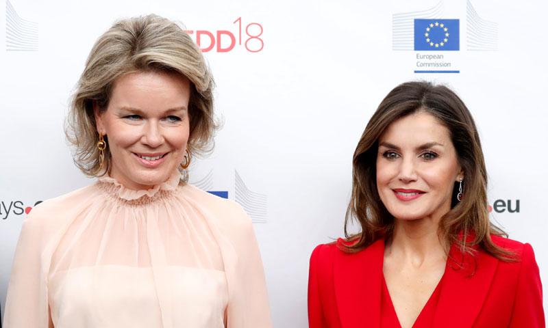 Doña Letizia y Matilde de Bélgica: dos reinas, dos estilos diferentes en Bruselas