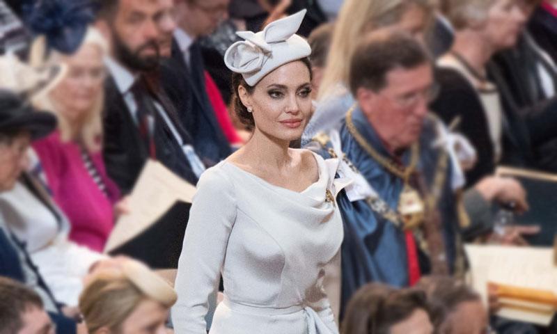 La respuesta de Angelina Jolie a Meghan Markle con su último vestido 'royal'