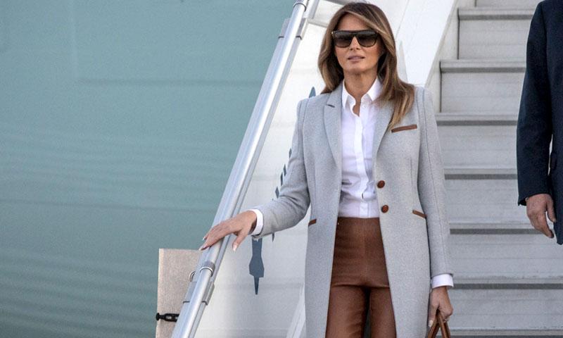 Melania Trump y un look de aeropuerto por 12.000 euros