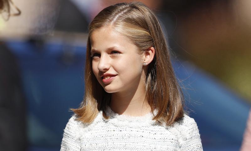 La princesa Leonor se viste del color del Rey y la infanta Sofía, del favorito de la Reina
