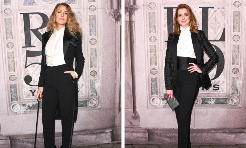 El duelo entre Blake Lively y Anne Hathaway y otros momentos del 'front row' de Ralph Lauren