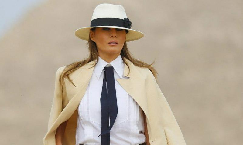 Melania Trump, de primera dama a modelo de una improvisada sesión de fotos
