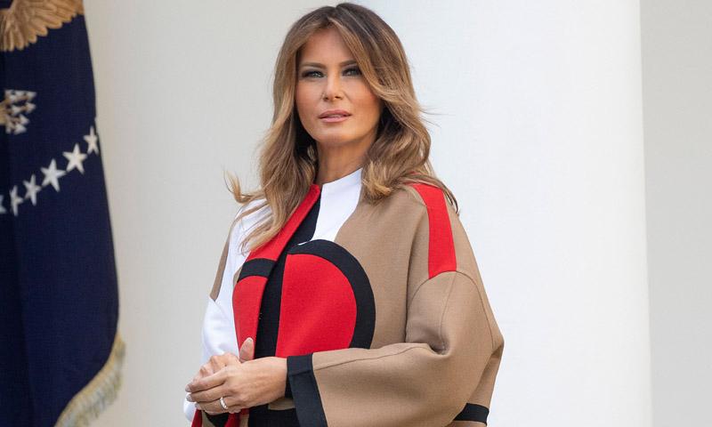 El mensaje del último vestido italiano de Melania Trump