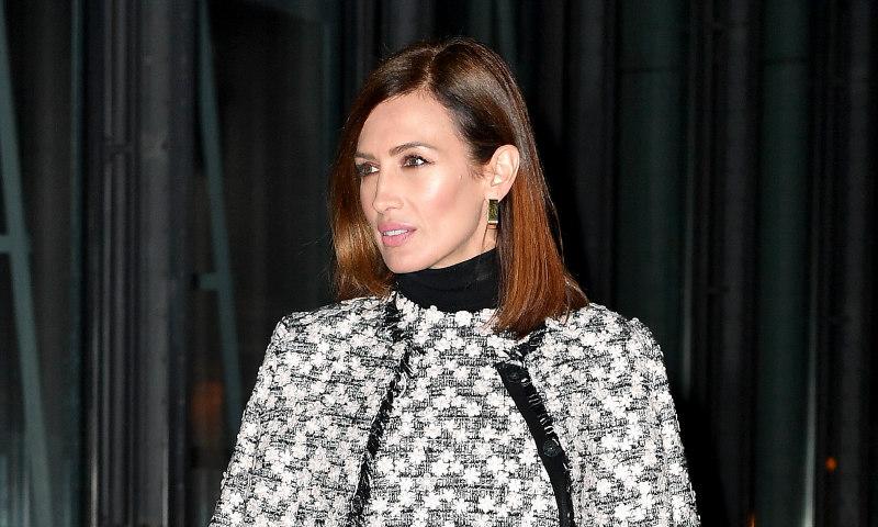 Nieves Álvarez o cuando el traje de 'tweed' es mejor que un vestido de fiesta
