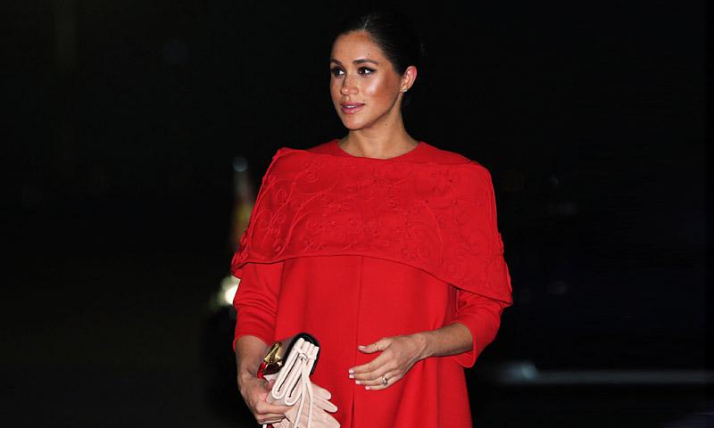El vestido con mensaje de Meghan Markle a su llegada a Marruecos