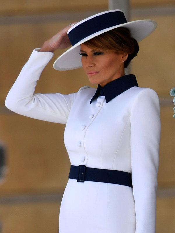 Melania Trump: su vestido blanco que parecía un traje en ...
