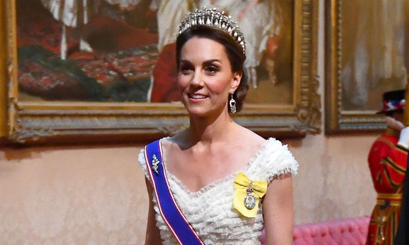 Kate recupera la tiara favorita de Diana de Gales en su cena con Melania Trump