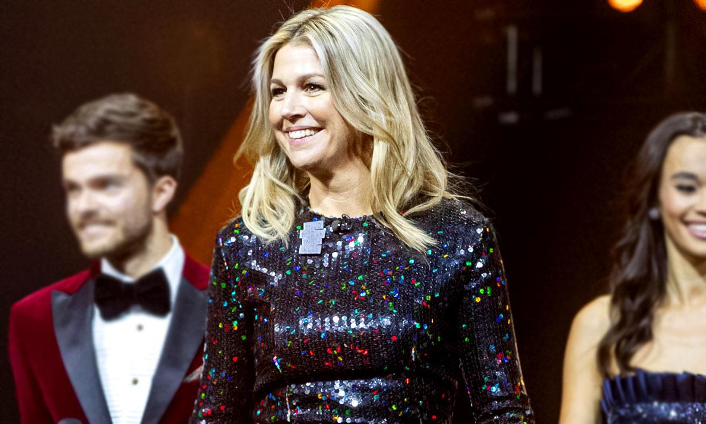 Máxima de Holanda versiona el vestido de lentejuelas más cañero de doña Letizia