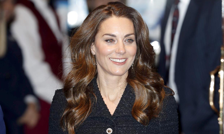 Kate Middleton, pura elegancia con nuevo vestido 'tweed' y sus zapatos Cenicienta