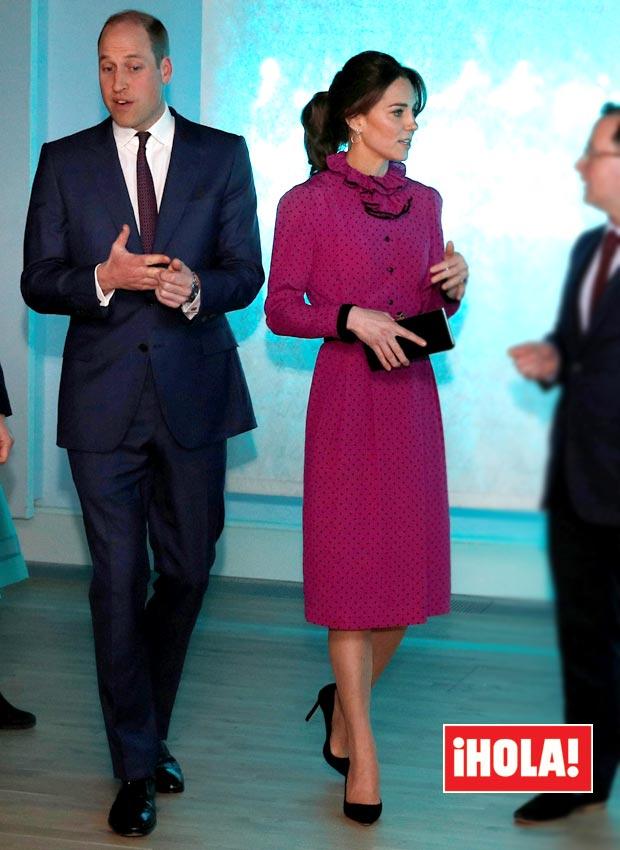 Kate Middleton vestido rosa lunares