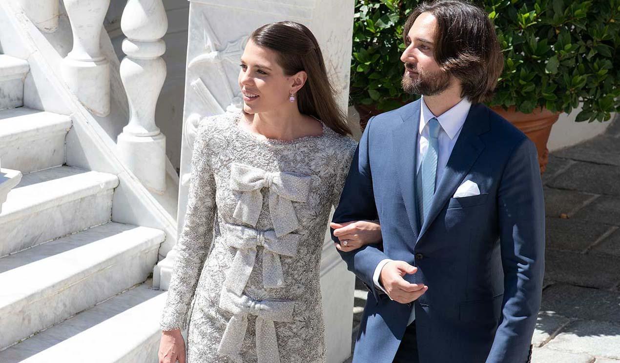Recordamos los mejores looks en la boda civil de Carlota Casiraghi un año después