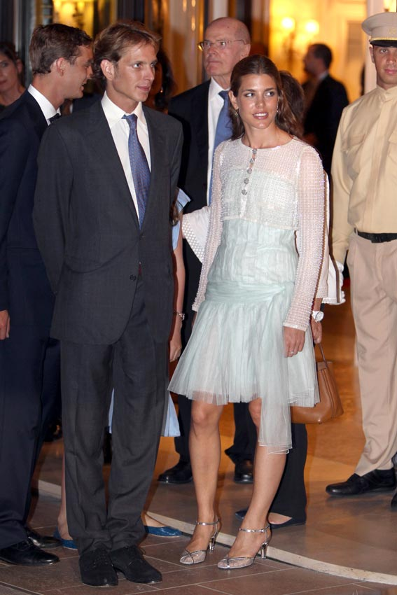 Carlota Casiraghi, look de invitada color pastel