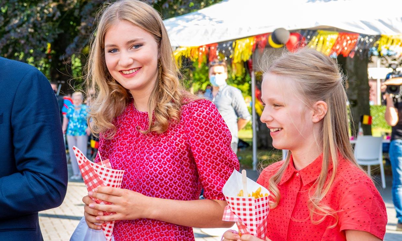 Elisabeth y Éléonore de Bélgica marcan estilo con sus vibrantes vestidos de verano