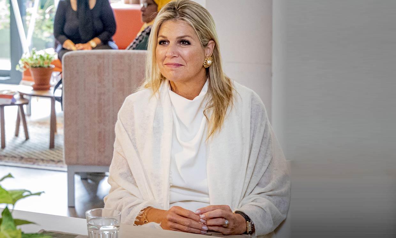 El truco de Máxima de Holanda para que su 'top' de Zara parezca una prenda de lujo