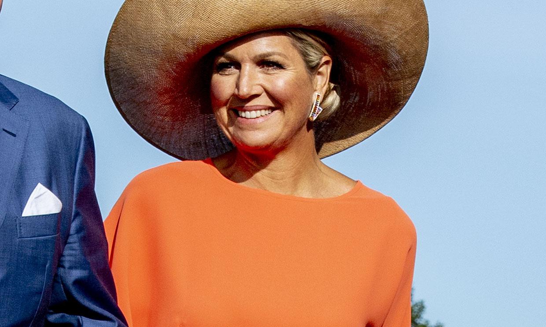 La última sorpresa estilística de Máxima de Holanda: el falso 'wrap dress'