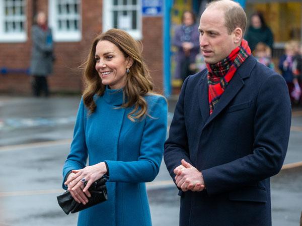Kate y William en su primer viaje en tren real