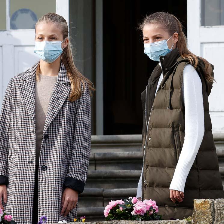 Leonor recupera el abrigo que conectó con otra 'royal' europea en la felicitación navideña 2020