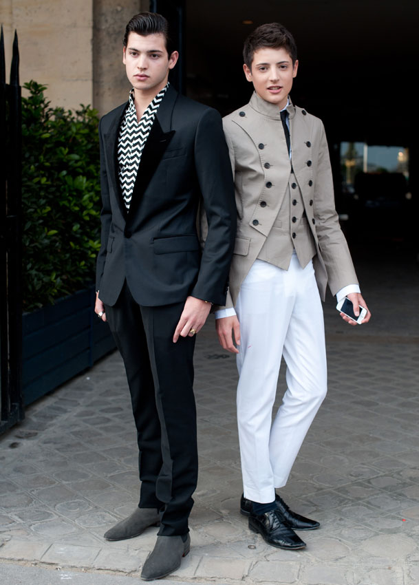 Peter y Harry Brant