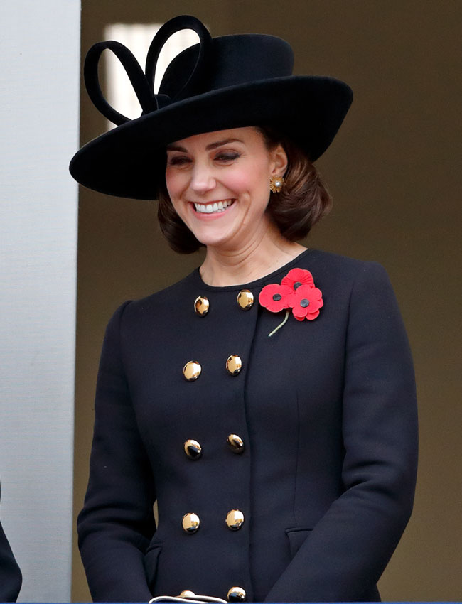 Kate Middleton abrigo negro