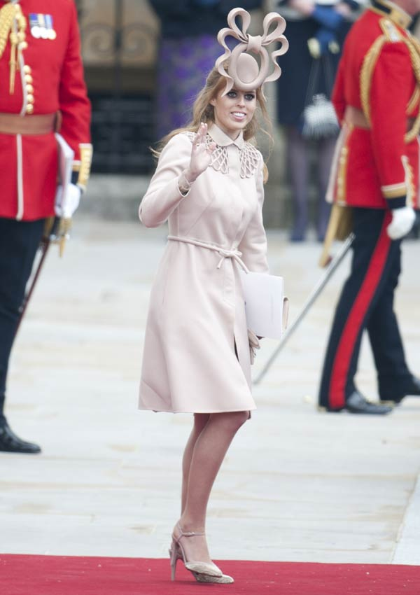 Beatriz de York en la boda de Kate Middleton
