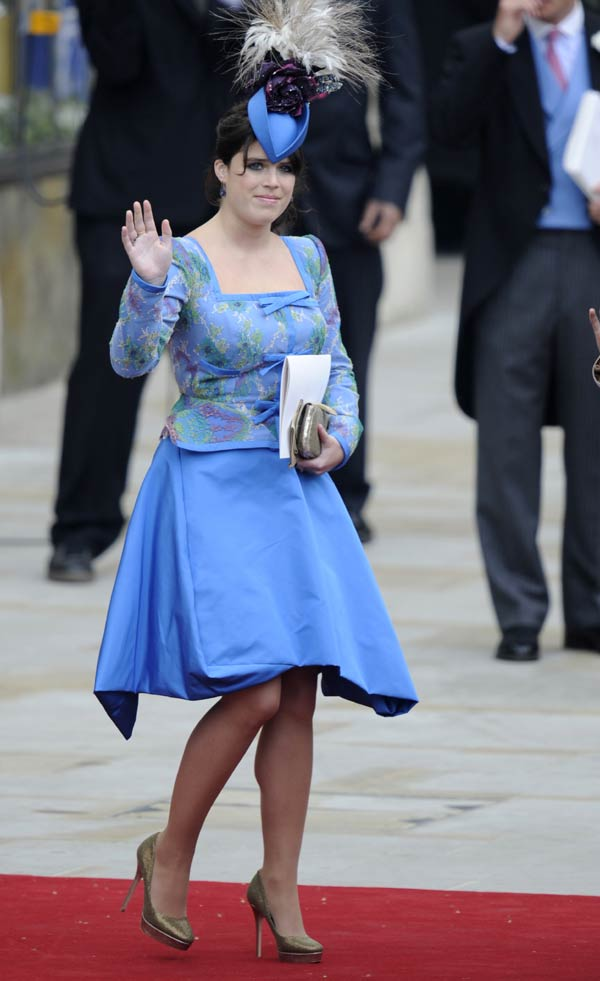 Eugenia de York en la boda de Kate Middleton